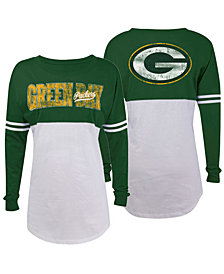 5th & Ocean Women's Green Bay Packers Sweeper Long Sleeve T-Shirt