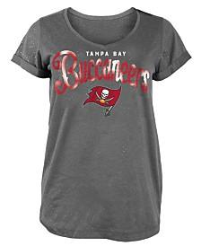 5th & Ocean Women's Tampa Bay Buccaneers Script Logo T-Shirt