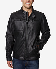 Buffalo David Bitton Men's Faux-Leather Jacket