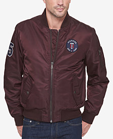 Tommy Hilfiger Men's Varsity Patch Bomber Jacket