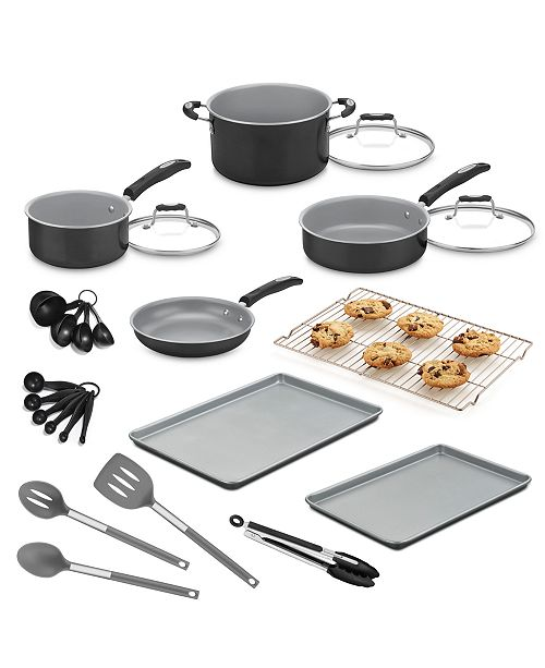94847a6c7 Cuisinart 24-Pc. Aluminum Cookware Set, Created for Macy's & Reviews ...