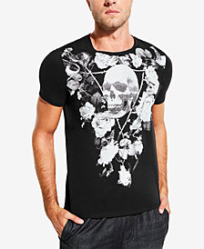 GUESS Men's Skull & Flowers Graphic T-Shirt