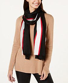 Calvin Klein Varsity-Stripe Lightweight Scarf