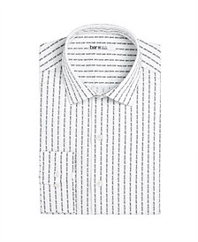 Bar III Men's Slim-Fit Stretch Text Stripe Dress Shirt, Created for Macy's