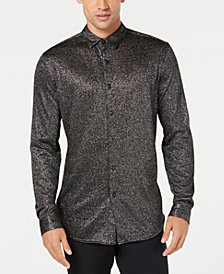 I.N.C. Men's Metallic-Knit Shirt, Created for Macy's