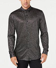 I.N.C. Men's Metallic-Knit Shirt, Created for Macy's