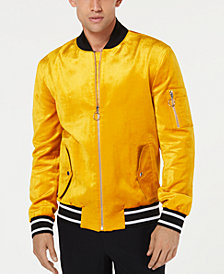 I.N.C. Men's Velvet Bomber Jacket, Created for Macy's