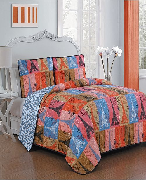 Geneva Home Fashion Cannes 2 Pc Twin Quilt Set