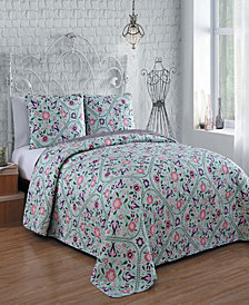 Evie 3 Pc King Quilt Set
