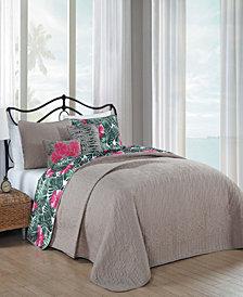 Tropical Paradise 5 Pc Queen Quilt Set