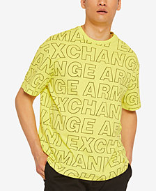 A|X Armani Exchange Men's Allover Logo Print T-Shirt