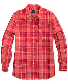 Tommy Hilfiger Women's Plaid Shirt, from The Adaptive Collection