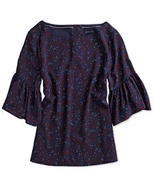 Tommy Hilfiger Women's Sutton Ruffle Top from The Adaptive Collection
