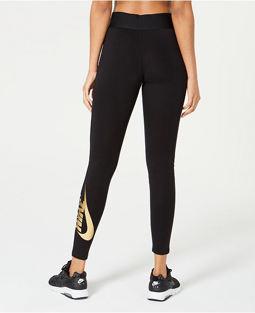 ad1a4f4433e68c Nike Sportswear High-Rise Metallic-Logo Leggings & Reviews - Pants ...