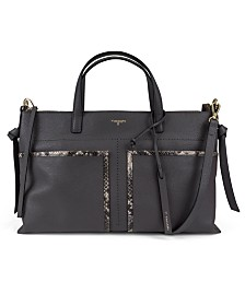 T Tahari Skyler Pebble Leather Satchel
