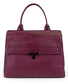 T Tahari Reese Pebble Leather Shopper