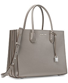 MICHAEL Michael Kors Mercer Accordion Pebble Leather Tote