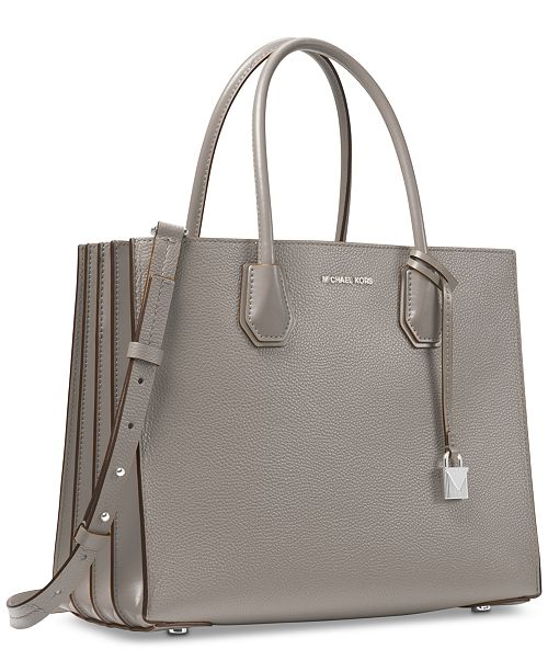 Michael Kors Mercer Accordion Pebble Leather Tote