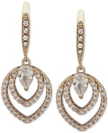 Crystal Openwork Drop Earrings