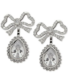 Jenny Packham Crystal Bow Jacket Earrings