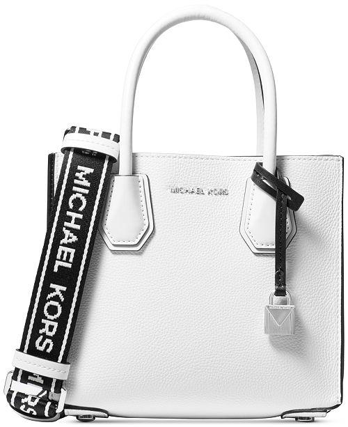 e391edd85b4da ... Michael Kors Mercer Accordion Logo Pebble Leather Crossbody ...