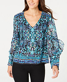 Nanette Lepore Ruffled Peasant Top, Created for Macy's