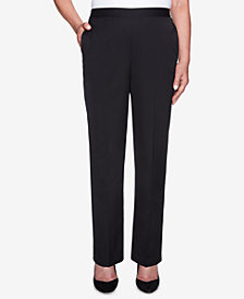 Alfred Dunner Finishing Touches Pull-On Straight-Leg Pants