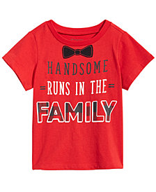 First Impressions Baby Boys Handsome-Print Cotton T-Shirt, Created for Macy's
