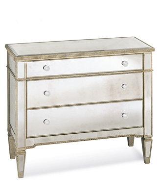 Marais 3 Drawer Mirrored Chest Furniture Macy S