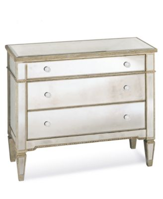 Marais 3 Drawer Mirrored Chest. Furniture