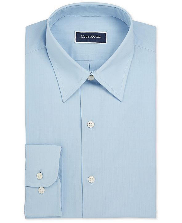 Club Room Men's Classic/Regular-Fit Solid Dress Shirt, Created for Macy's