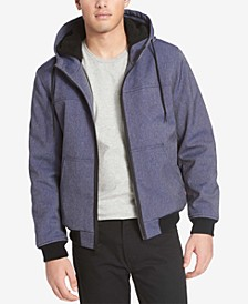 Men's Soft Shell Jacket with Fleece-Lined Hood
