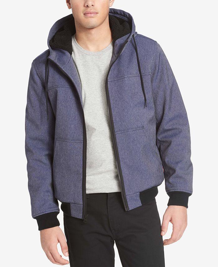 Levi's - Men's Soft Shell Jacket with Fleece-Lined Hood