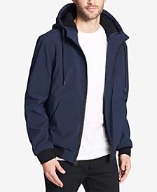 Men's Soft Shell Jacket with Fleece-Lined Hood