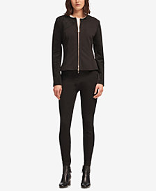 DKNY Faux-Suede Zip-Up Jacket, Created for Macy's