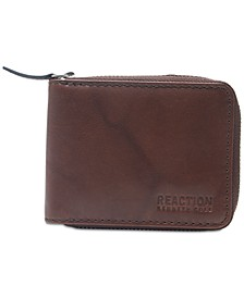 Men's Zip Leather Wallet