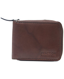 Kenneth Cole Reaction Men's Zip Leather Wallet