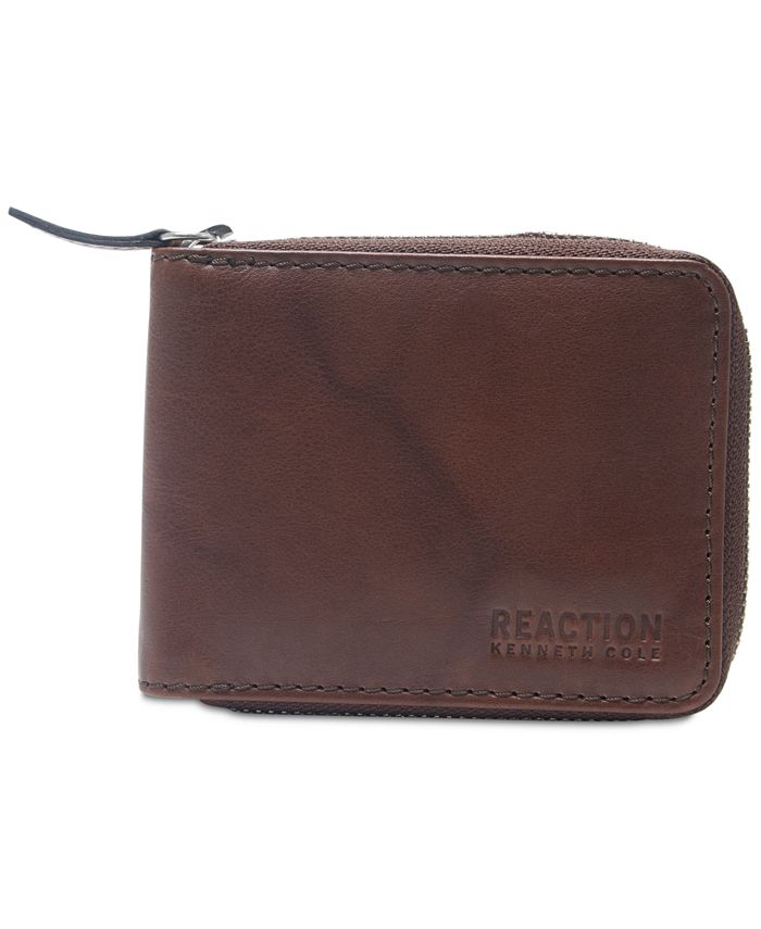 Kenneth Cole Reaction - Men's Zip Leather Wallet