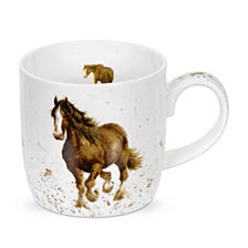 "Portmeirion Wrendale 11 oz. Horse Mug ""Gigi"" - Set of 6"