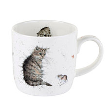 "Portmeirion Wrendale Cat Mug ""Cat and Mouse""  Set of 4"