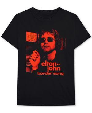 BRAVADO Elton John Border Song Men'S Graphic T-Shirt in Black