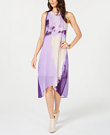 Alfani Petite Floral-Print High-Low Dress, Created for Macy's