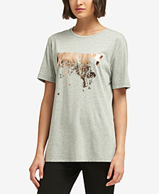 DKNY Metallic Logo T-Shirt, Created for Macy's