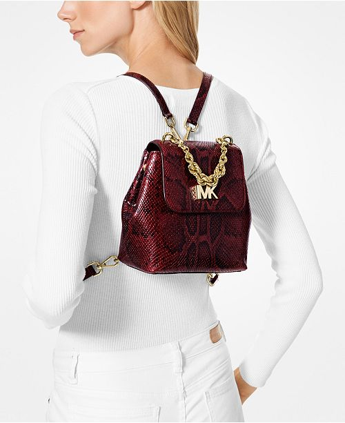 b5cde1d22883 denmark michael kors mott chain python convertible backpack handbags  accessories macys af106 f61aa