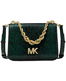 MICHAEL Michael Kors Mott Python Chain Shoulder Bag