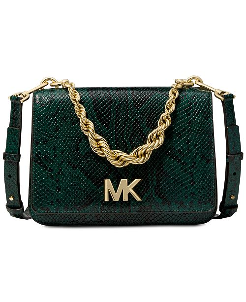 867ded2c6e9d Michael Kors Mott Python Chain Shoulder Bag & Reviews - Handbags ...