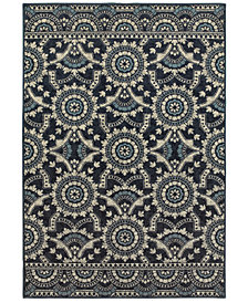 Oriental Weavers Linden 7842A Navy/Grey Area Rug