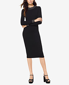 MICHAEL Michael Kors Embellished Sweater Dress