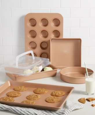 Nonstick Champagne 5-Pc. Bakeware Set, Created for Macy's