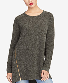 RACHEL Rachel Roy Asymmetrical Zipper Sweater